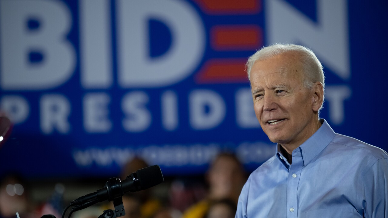 Biden gets bump in a new poll