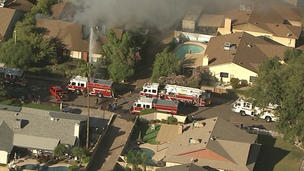 Three people displaced after Tempe house fire