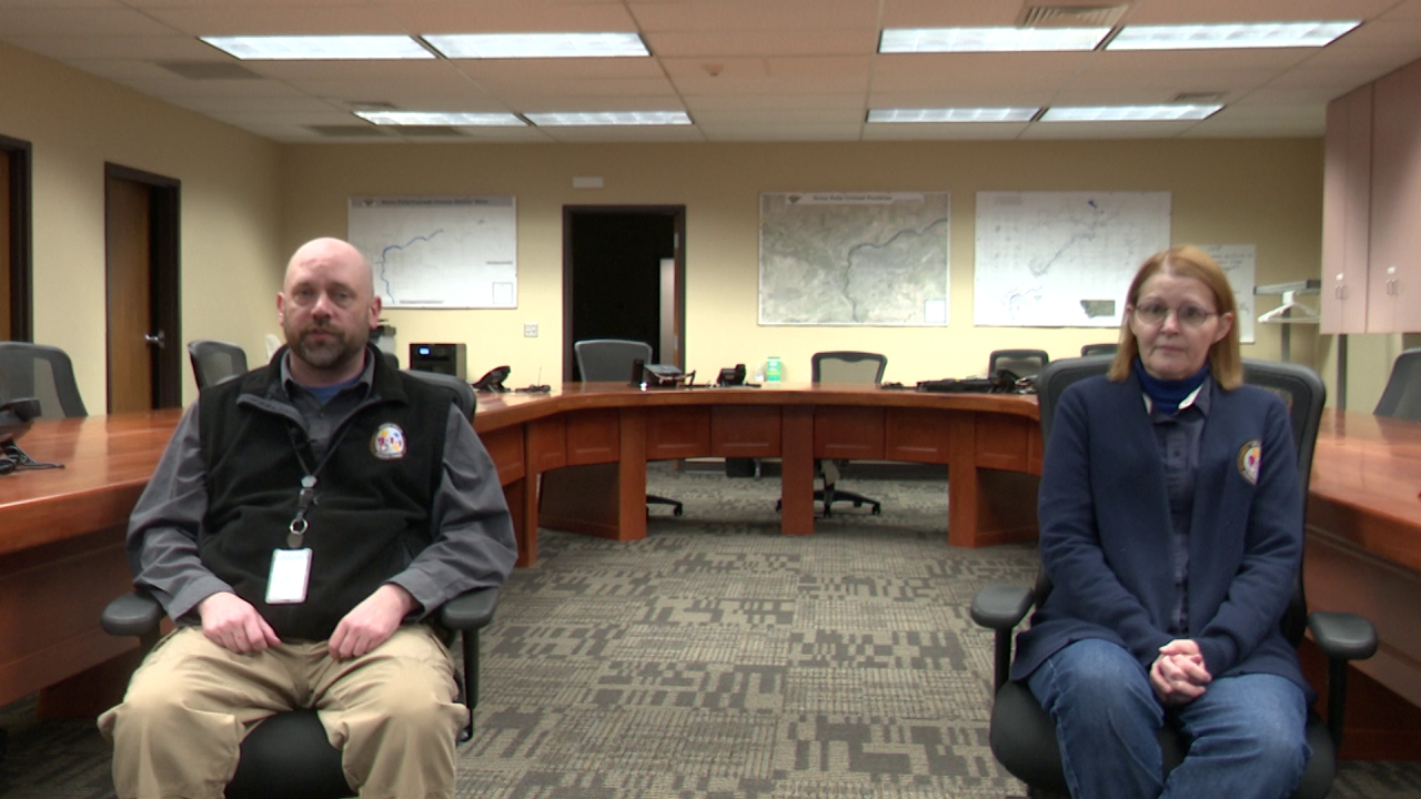 Peter Ingold and Karen Young - 911 Dispatch Center in Great Falls