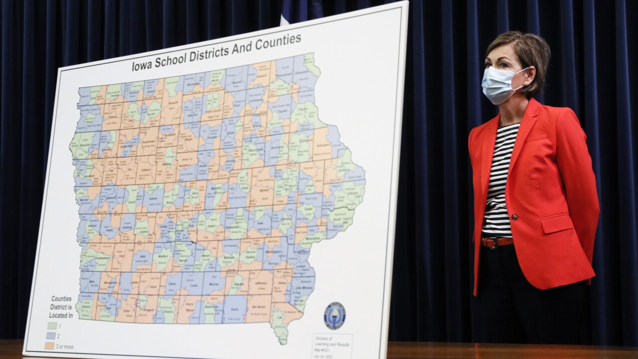 Iowa confirms 1st child death from COVID-19 as schools reopen