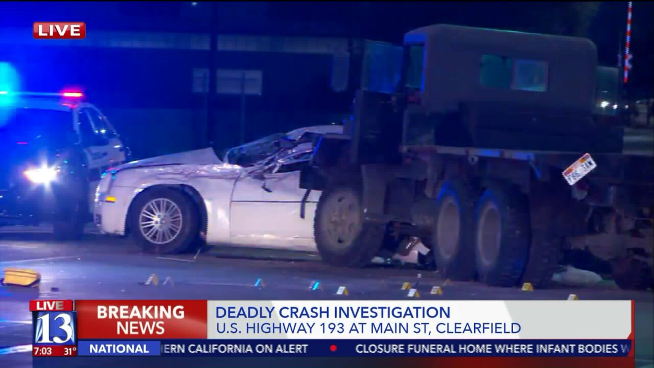 One dead after car, military surplus vehicle collide on SR-193 in Clearfield