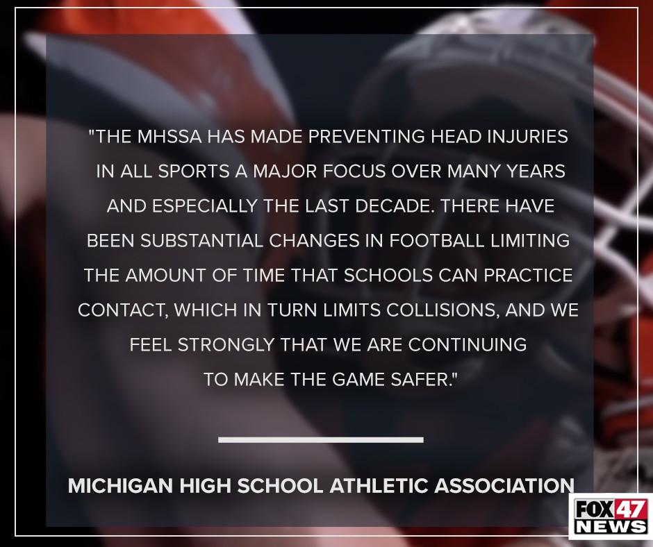 MHSAA on preventing head injuries