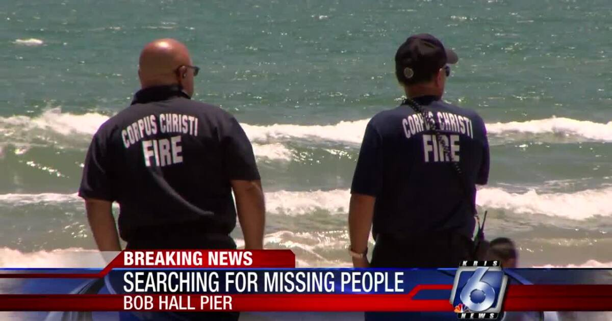 Rescuers searching for missing tubers near Bob Hall Pier