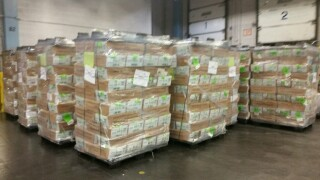 The Pima County Recorder's Office released this photo of several pallets of mail-in ballots they dropped off at the Cherrybell U.S. Postal facility in Tucson Wednesday.