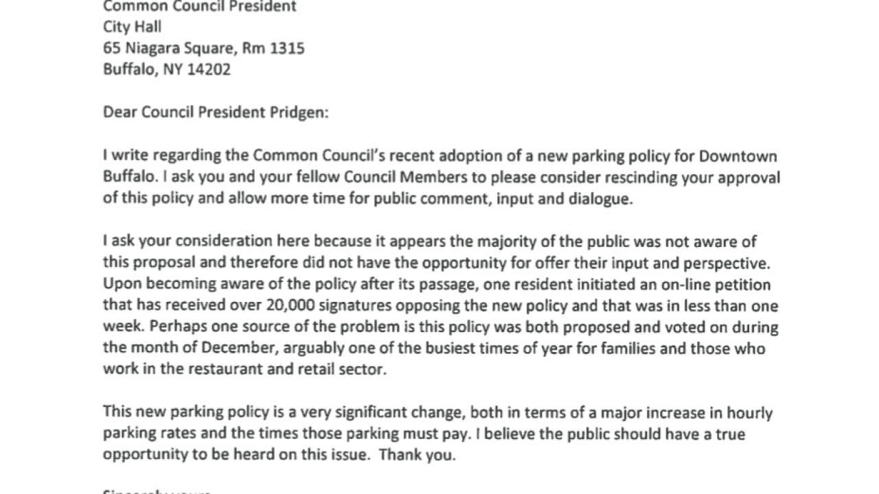 state senator chris jacobs letter to city of buffalo