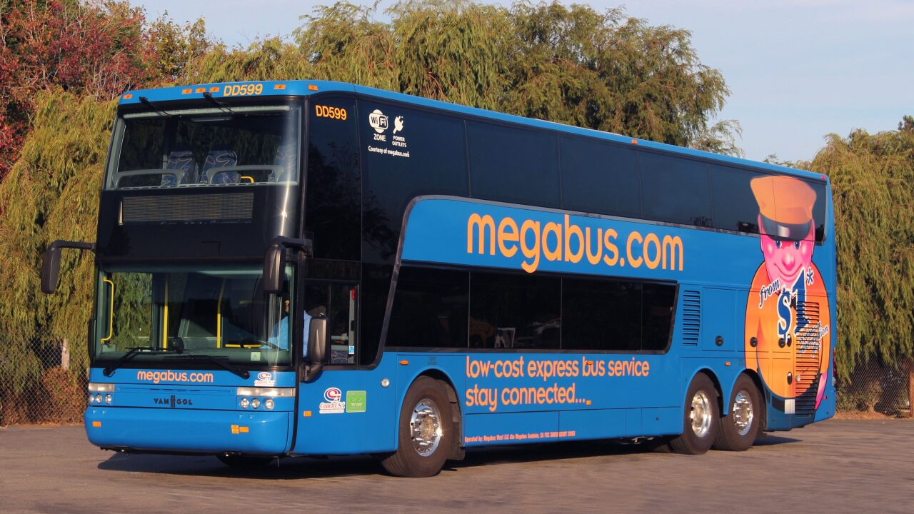 You could win free Megabus travel for a year if you find a golden ticket on your bus