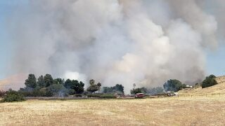 UPDATE: Grass fire in Shandon now 100 percent contained, total acreage burned revised