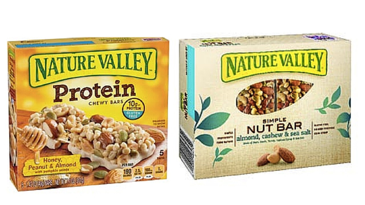 Nature Valley recalls 4 flavors of chewy bars and nut bars
