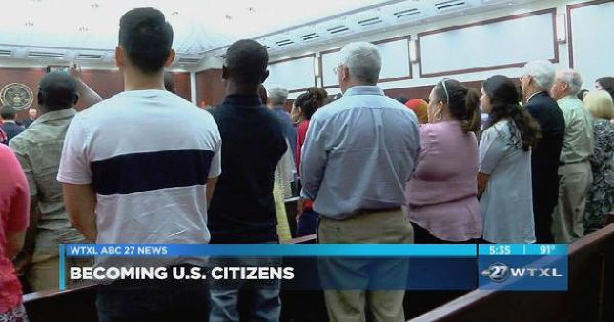 Naturalization ceremony held at Tallahassee courthouse