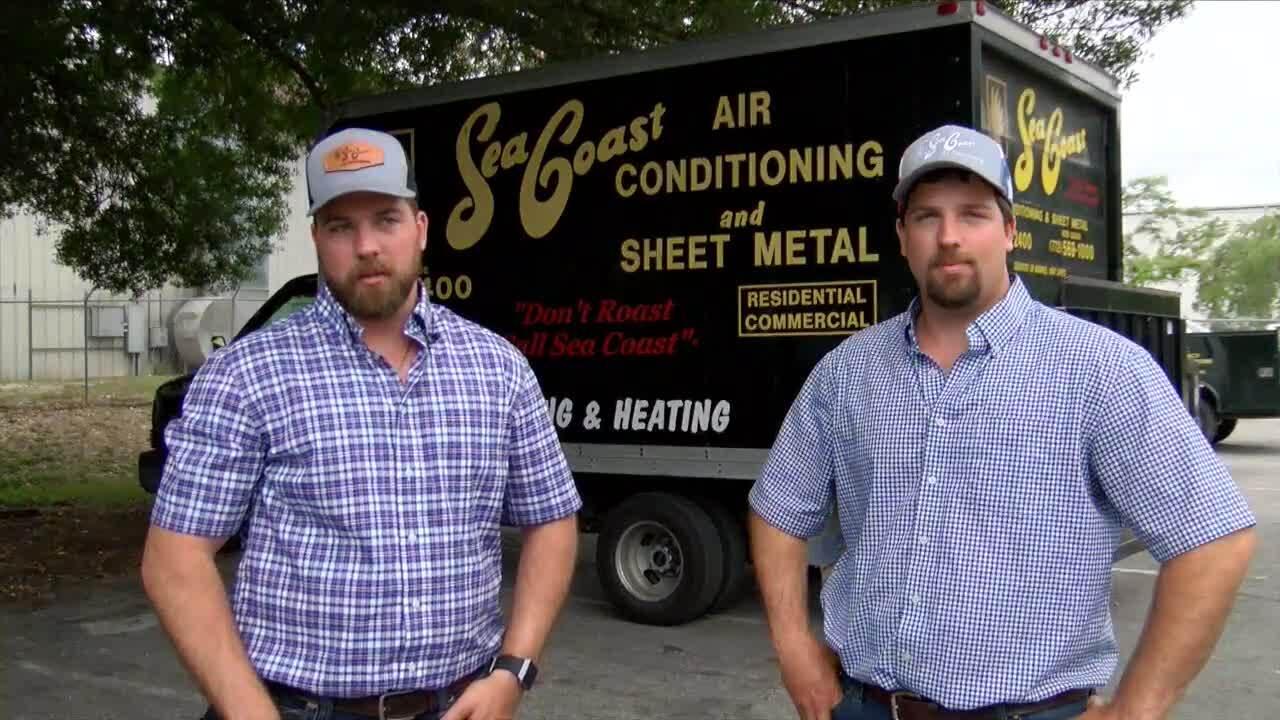 Zack and Jon Langel at Sea Coast Air Conditioning