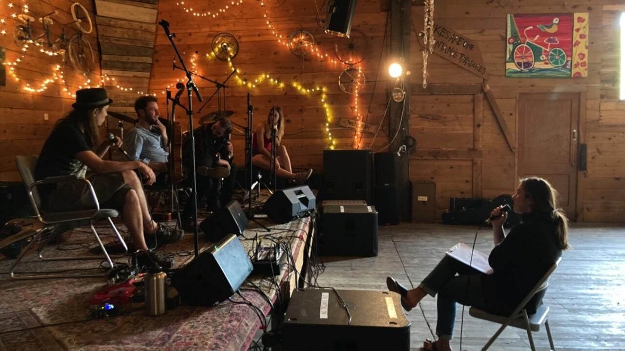 A Rhythm Runs Through It podcast host Callie Morris interviews band Banshee Tree