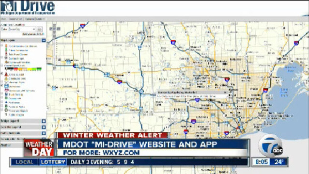 MDOT offers driver real-time traffic and plow information
