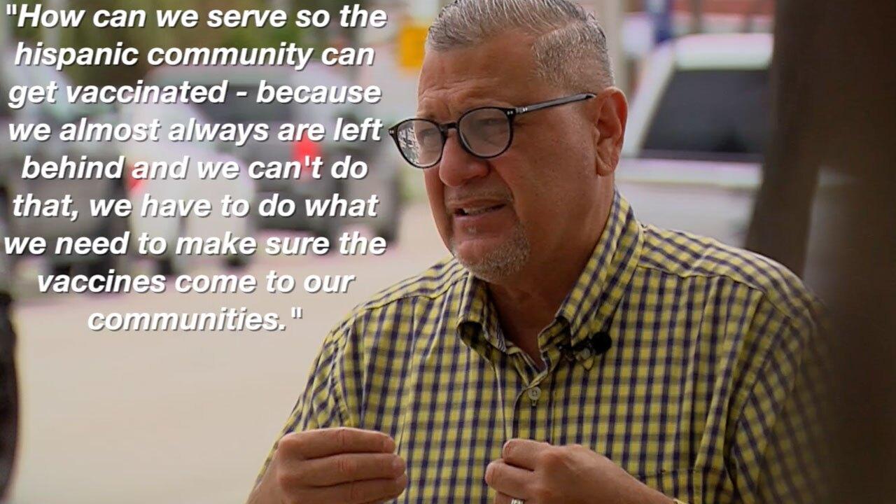 Pastor Valentin Fontanez speaks April 21, 2021, on vaccinating Hispanic population