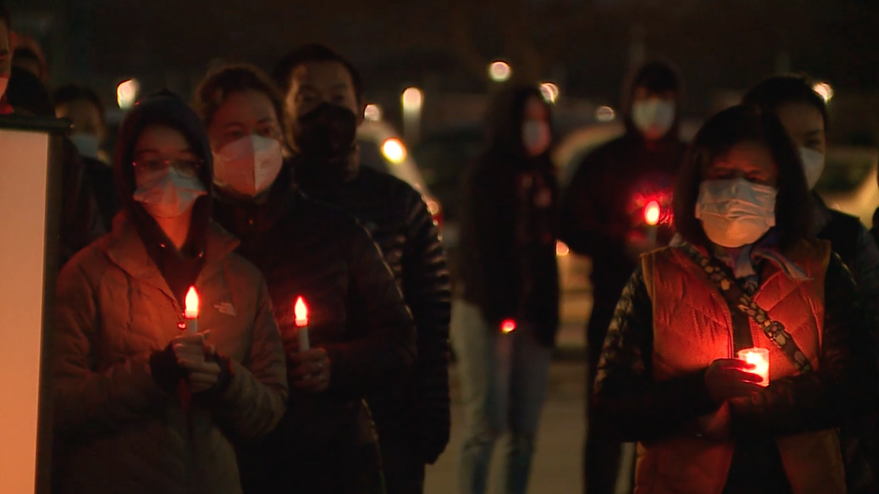 Solon Stop Asian Hate candlelight vigil