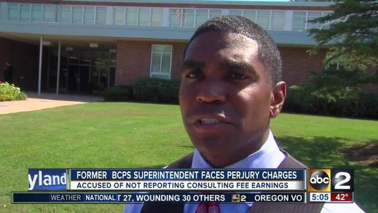 Former superintendent charged with perjury