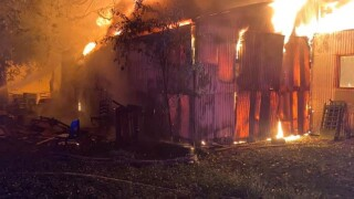Domingue Road Shed fire.jpg