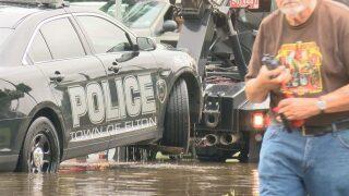 Water recedes along main Lafayette roadways