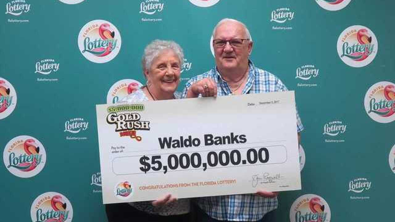 Man wins top prize playing $5,000,000 gold rush doubler scratch-off game
