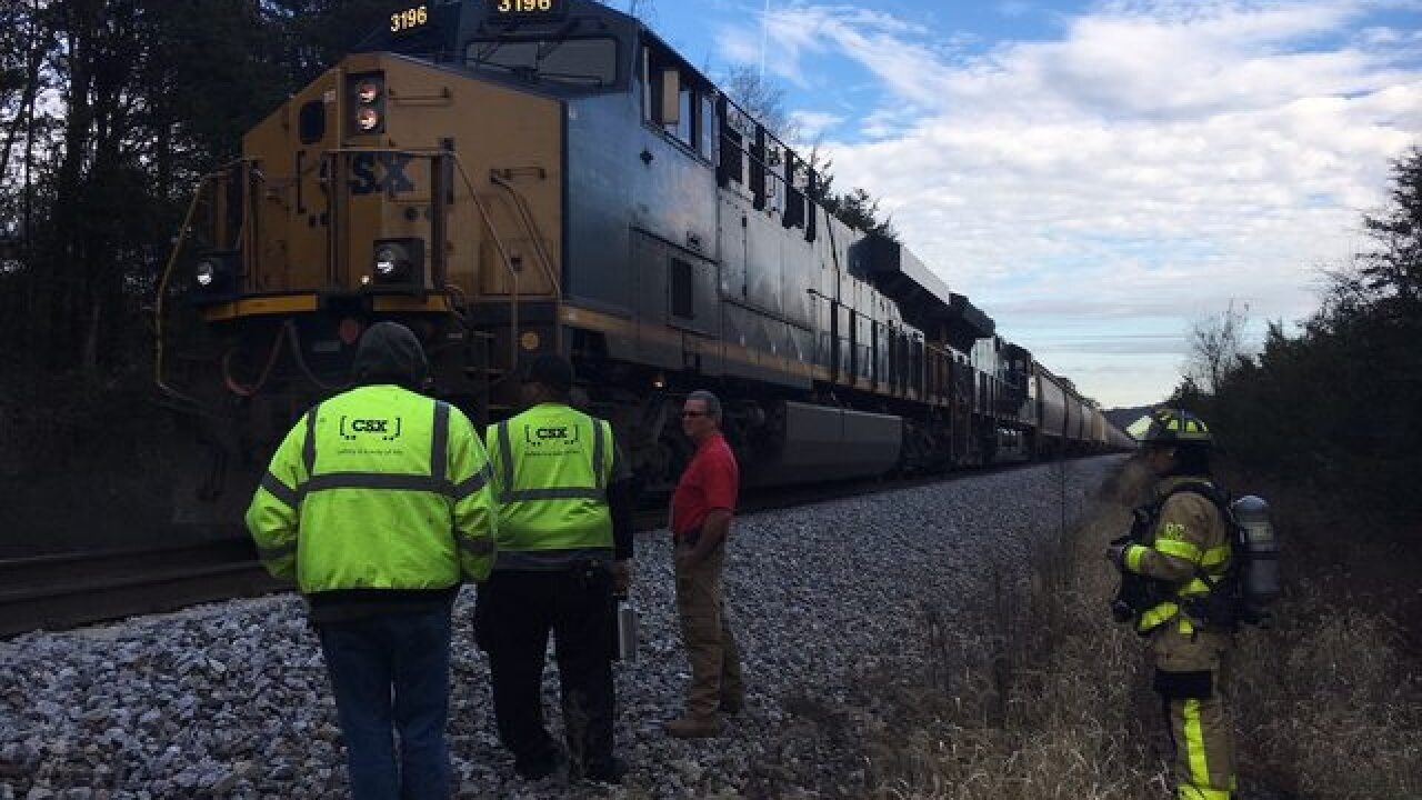 Rutherford Co. crews put out train fire