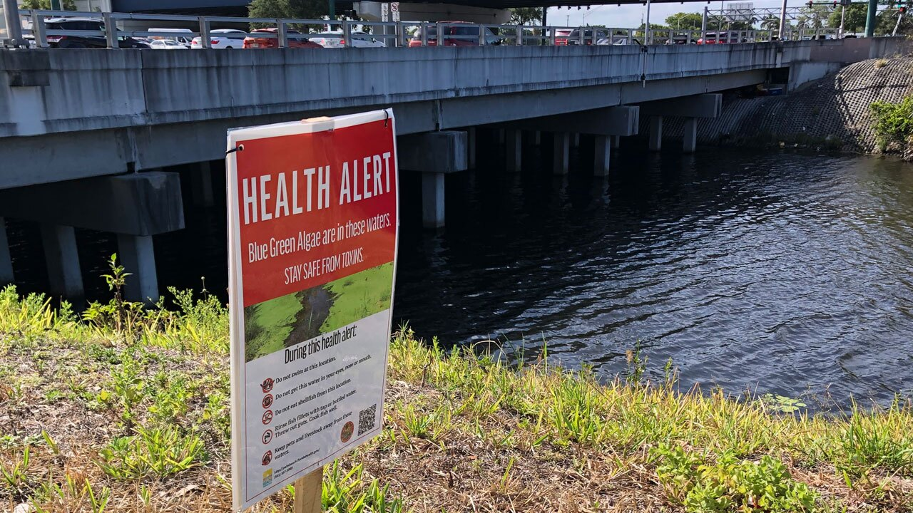 Health alert sign posted at Southern Boulevard and Military Trail on June 7, 2021