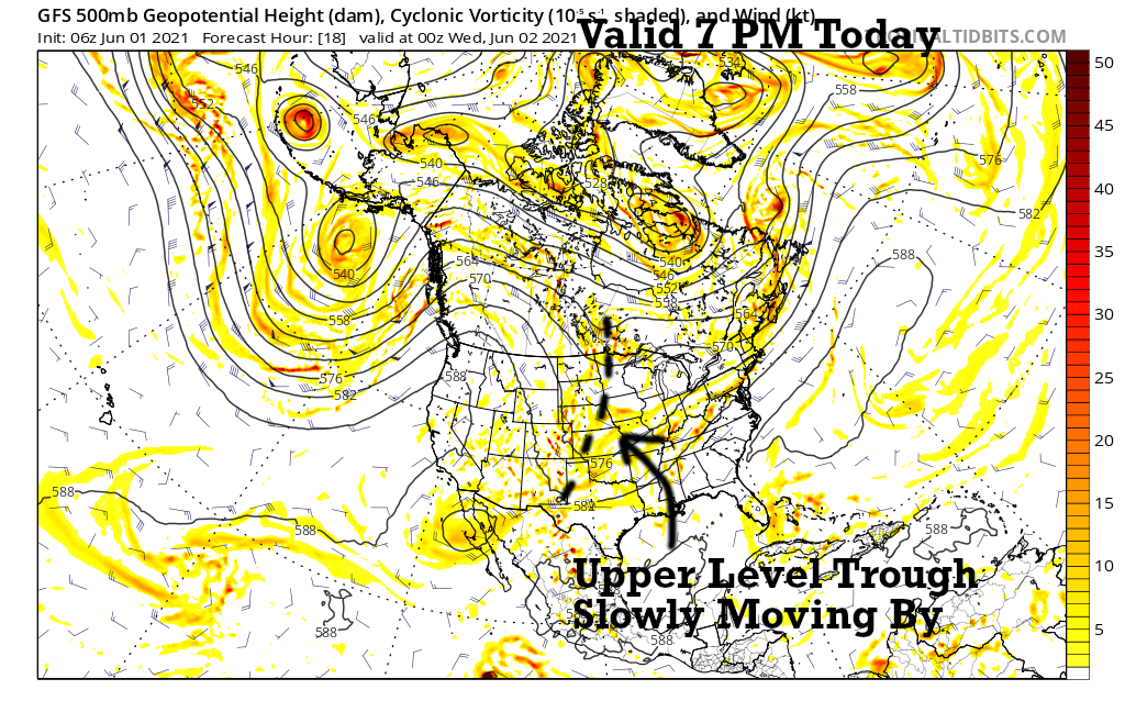 500 mb Flow Today