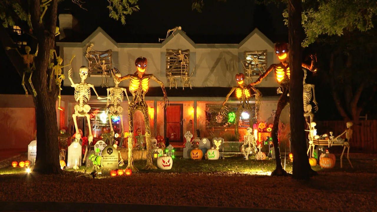 Local family transforms front yard in haunted playground