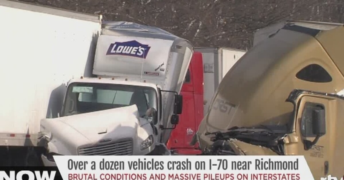 I-70 back open after crash with 10 semis, 5 cars