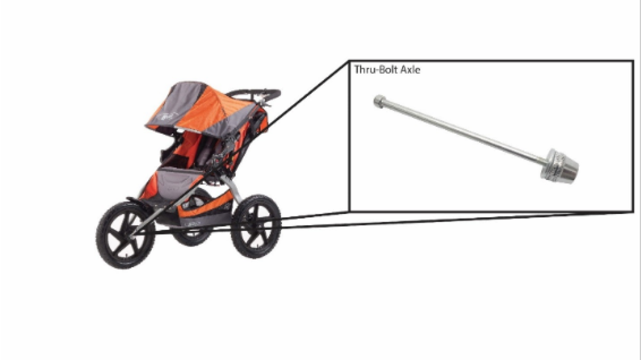 Jogging stroller axles recalled due to fall and injury concerns