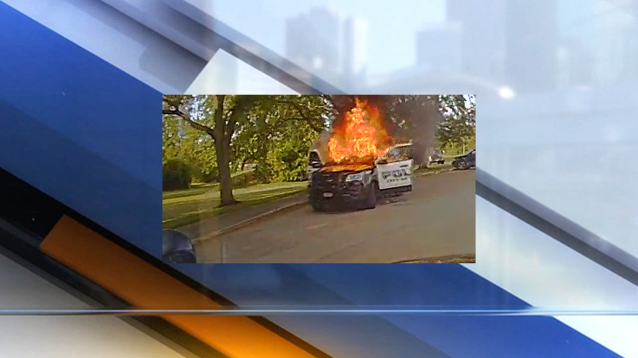Solon cruiser catches fire in middle school parking lot