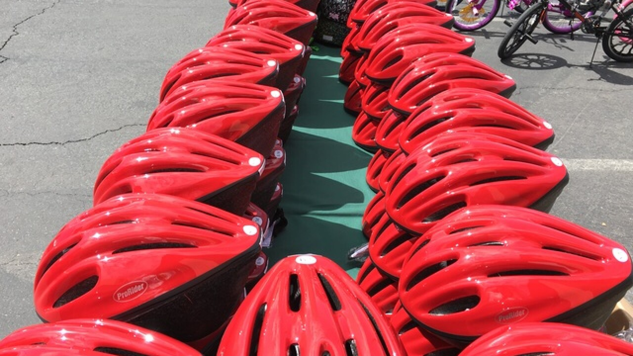100 students get free bikes at PK Bike Day