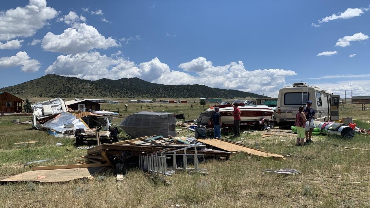 DeWeese tornado damage RVs and boats
