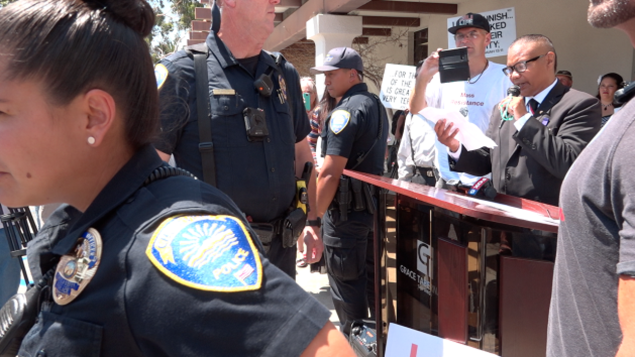 Protesters clash ahead of Chula Vista library's Drag Queen Story Time