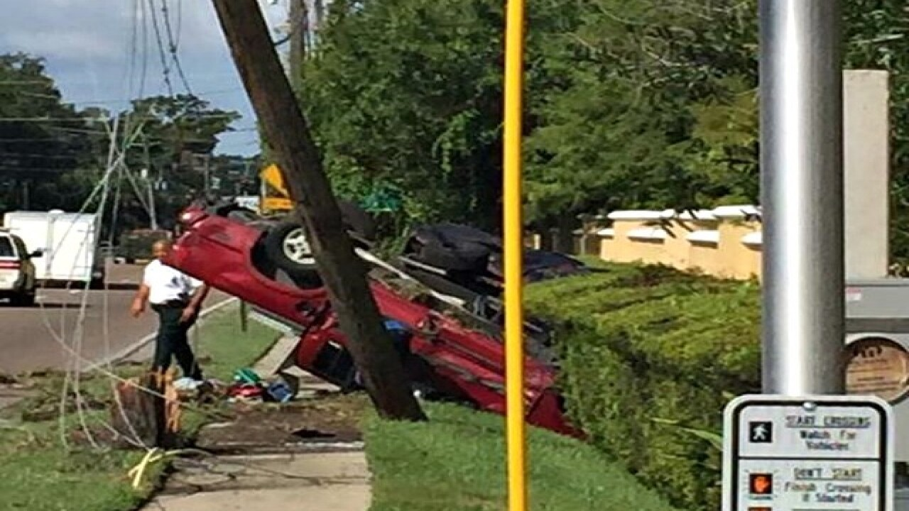 Two vehicles flip in Carrollwood area crash