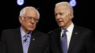 Bernie Sanders Joe Biden.