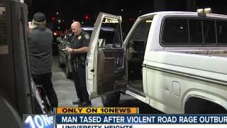 man tased after violent road rage outburst