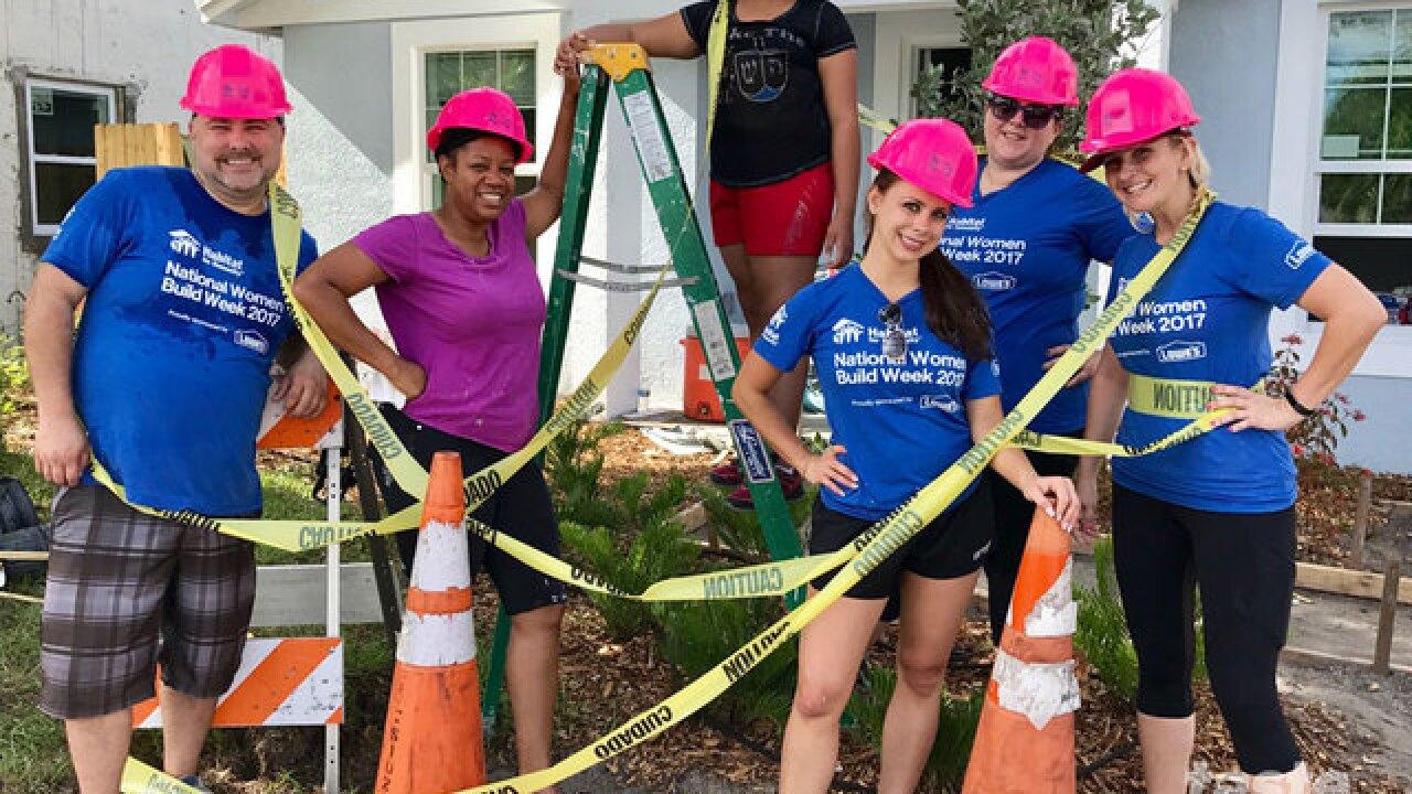 Building a Habitat for Humanity house is fun volunteer work