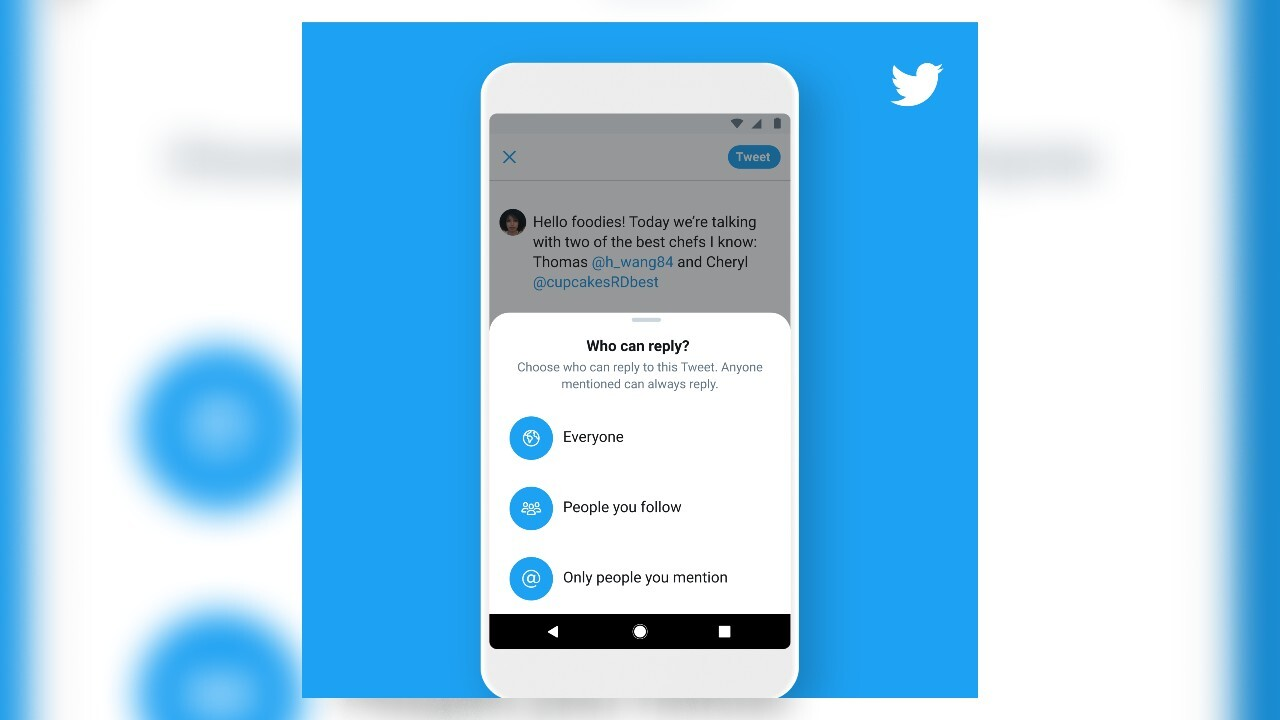 Twitter: Users can now limit who replies to their tweets