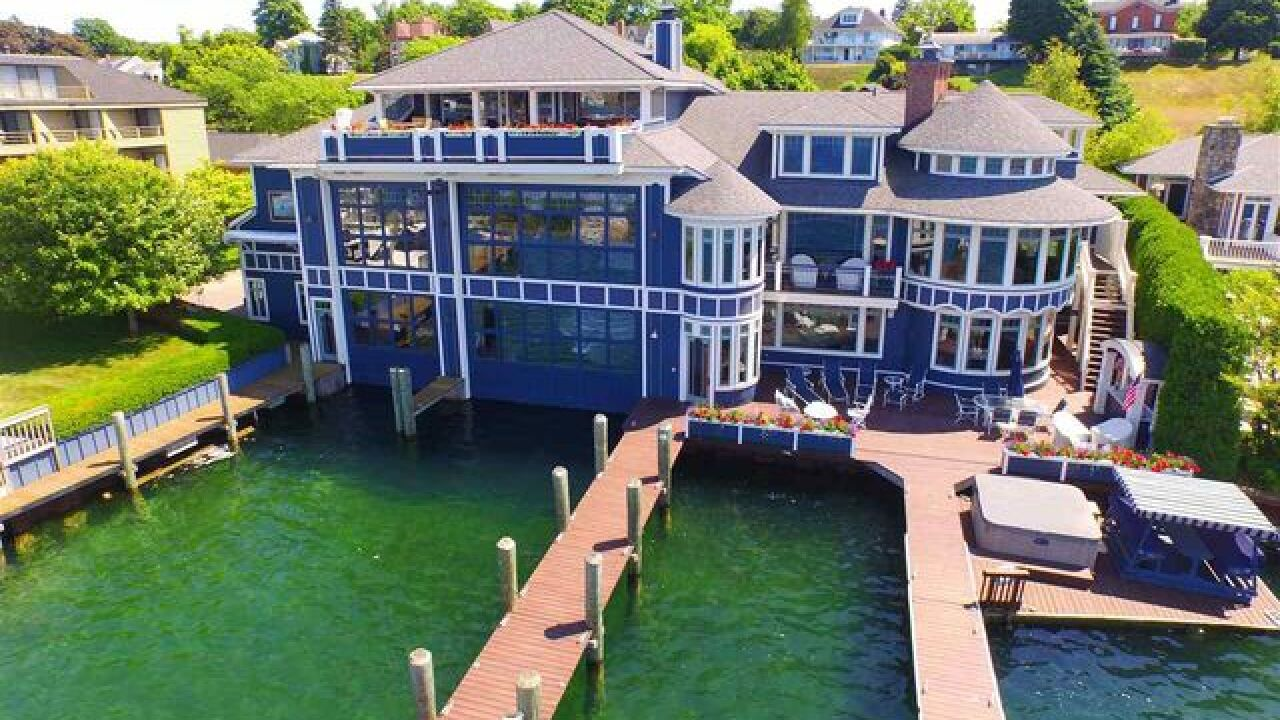 Own a massive boathouse in Charlevoix on Round Lake for $6.8 million