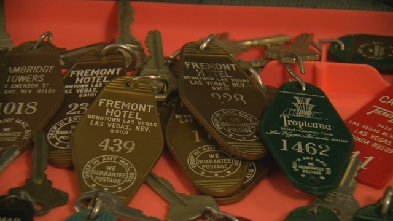 Hotel key collection preserves Las Vegas history