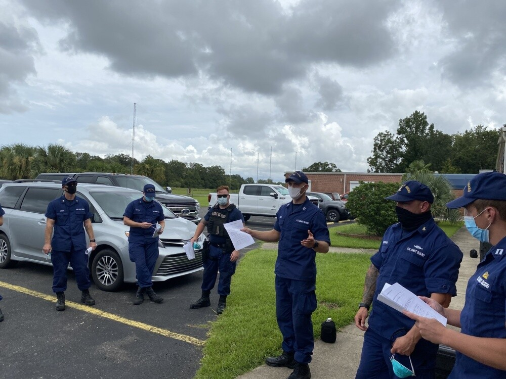 U.S. Coast Guard Maritime Safety and Security Team (MSST) 91112 in Belle Chasse, La. is preparing for Hurricane Marco and Tropical Storm Laura Response, August 23, 2020. Coast Guard MSSTs maintain the highest level of readiness to respond to the nation's most catastrophic emergencies and disasters.