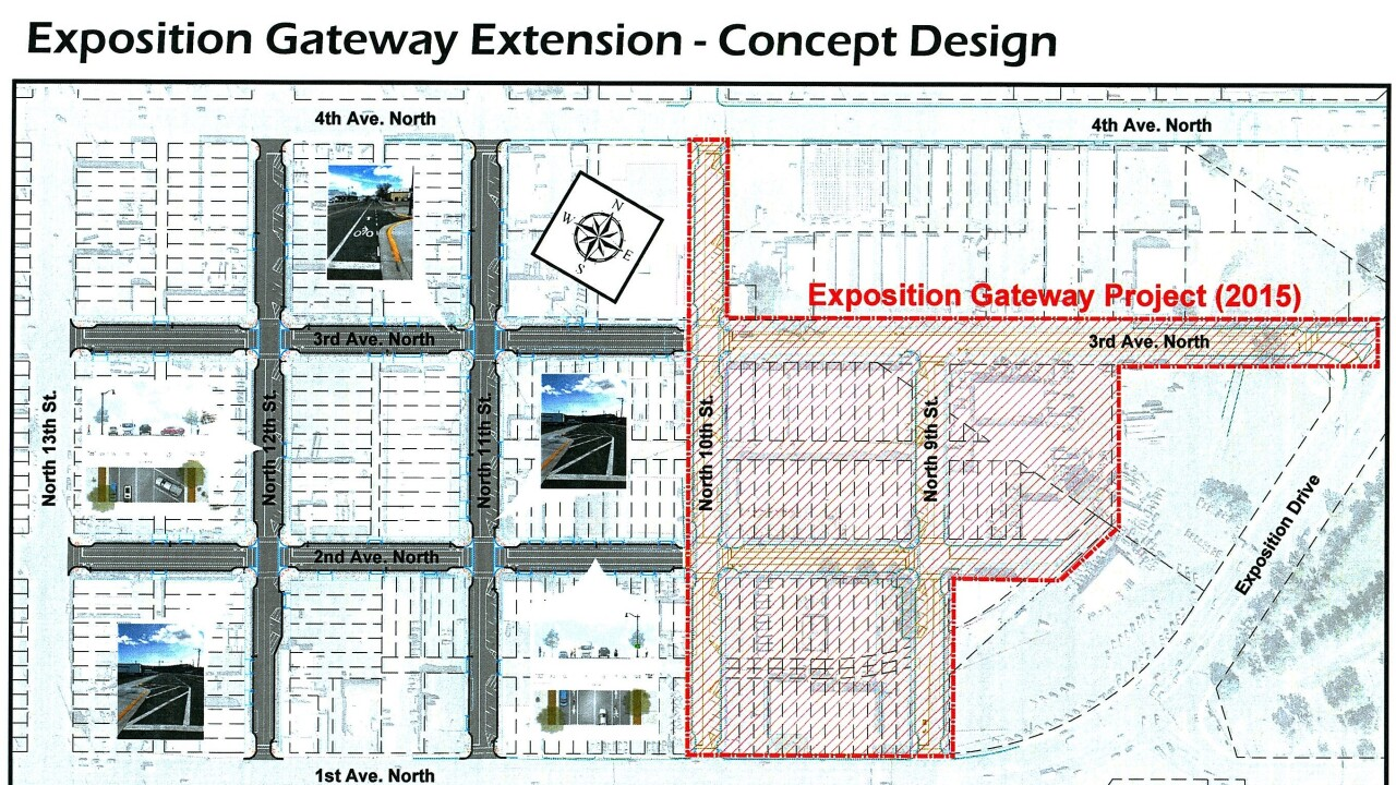 East Billings Industrial Revitalization District Paving Project Map