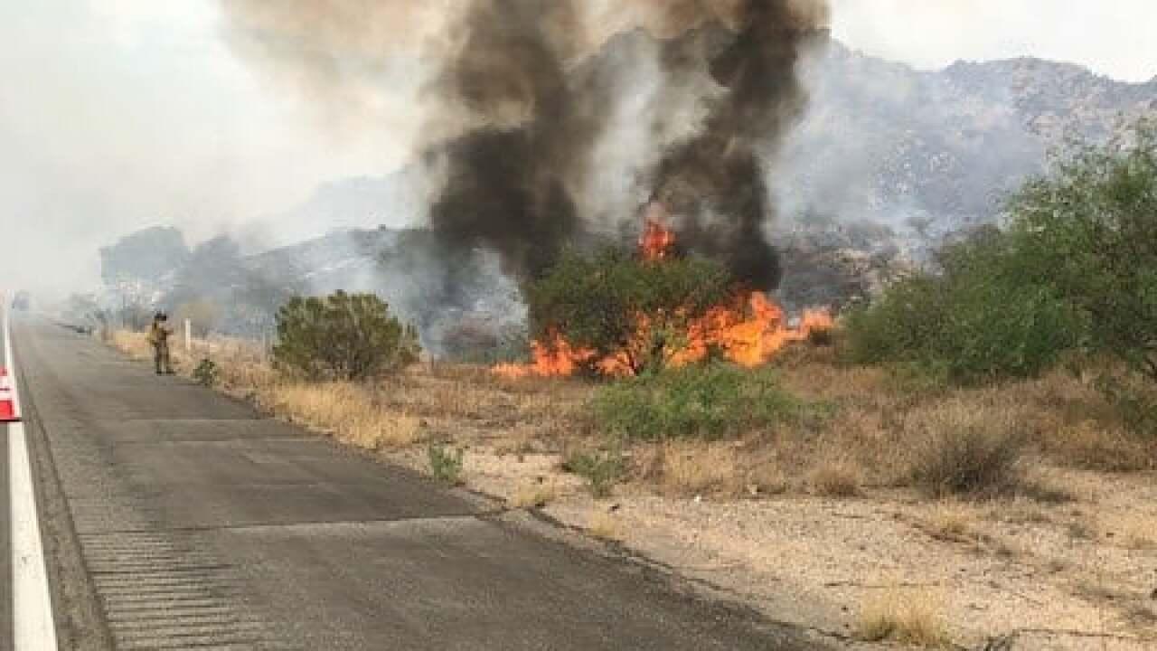Walnute Fire near I-10 on June 22, 2021.