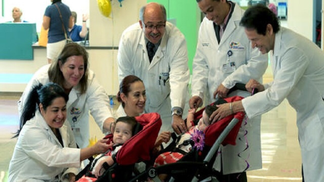 Conjoined Texas twins separated