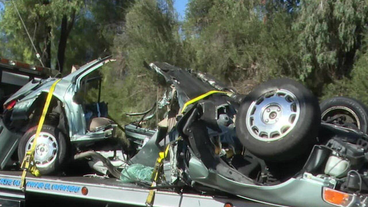 Collision in Lakeside splits car in half; 2 dead