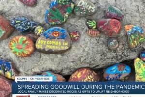 Tucson family makes decorated rocks to uplift neighbors