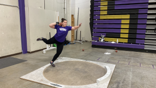 Krueger puts up top mark in NAIA for shot put at Blue Hawk Classic