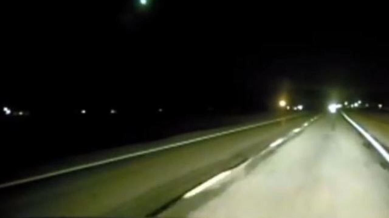 Watch: Fireball from Geminid meteor shower caught on Indiana deputy's dash cam