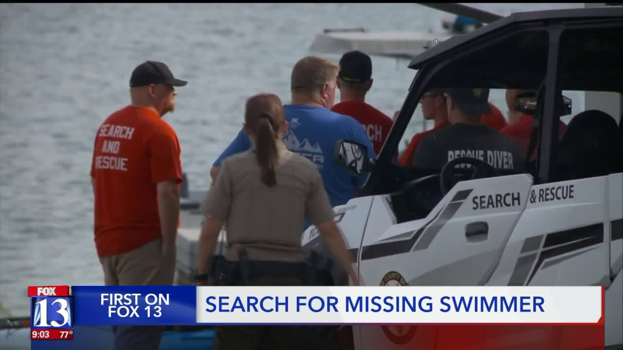 Dramatic video shows scene at East Canyon State Park amid search for missingswimmer