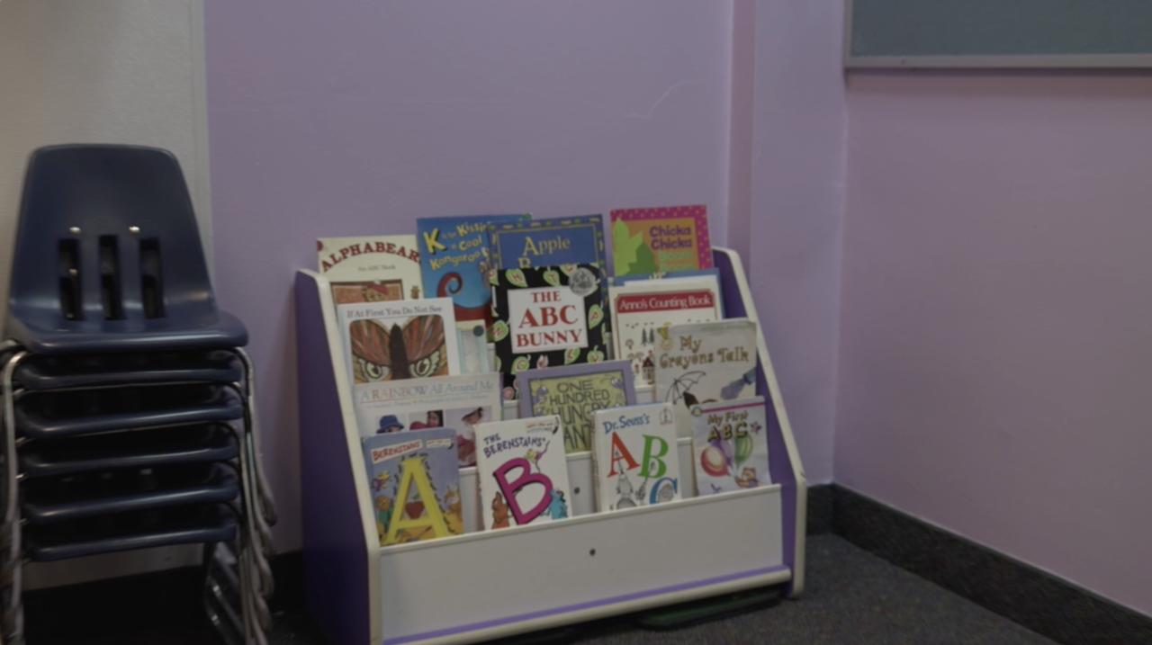 Children's books at Beginnings Childcare Center