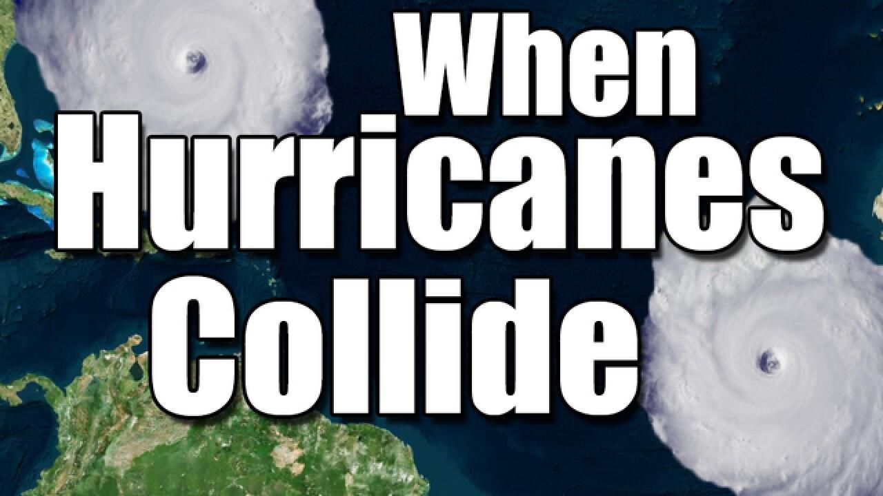 The Fujiwhara Effect: When hurricanes collide